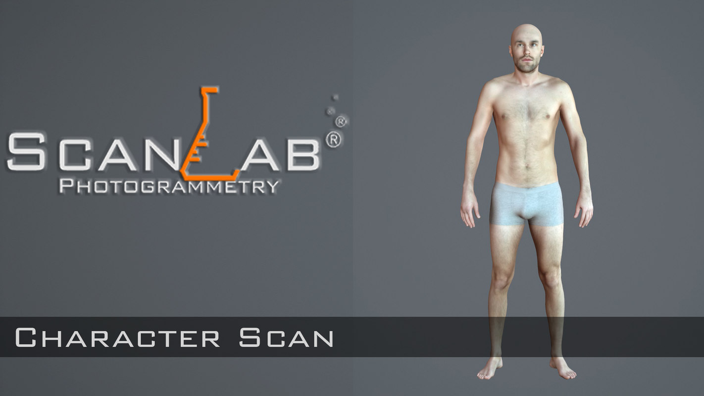 fbx male body scan -