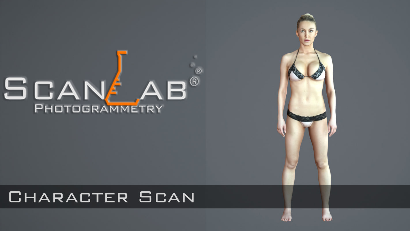 3d fbx female body scan -
