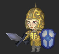 3d cartoon paladin