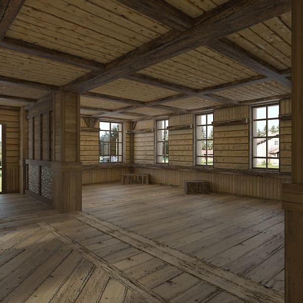 base village interior scene max