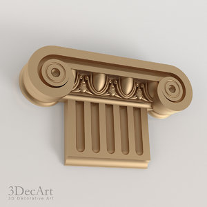 greek capitals 3d max