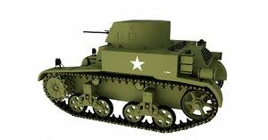 3d m1a1 combat car model