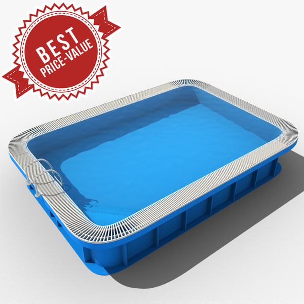 3d garden swimming pool