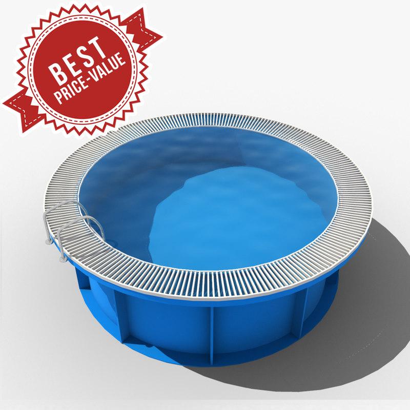 3d garden swimming pool model