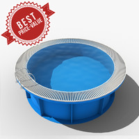3d garden swimming pool model