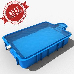 3d garden swimming pool