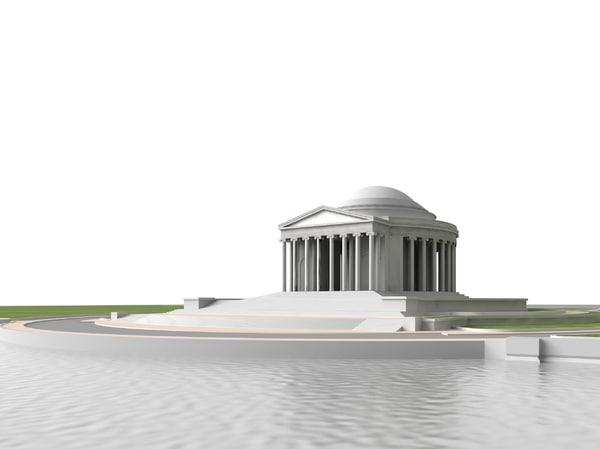 jefferson memorial 3d model