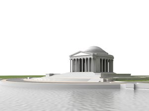 jefferson memorial 3d model