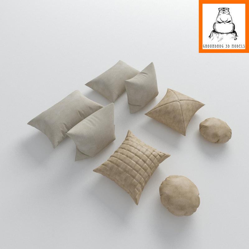 maya   pillows modeled