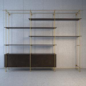 amunael collector s shelving 3d max