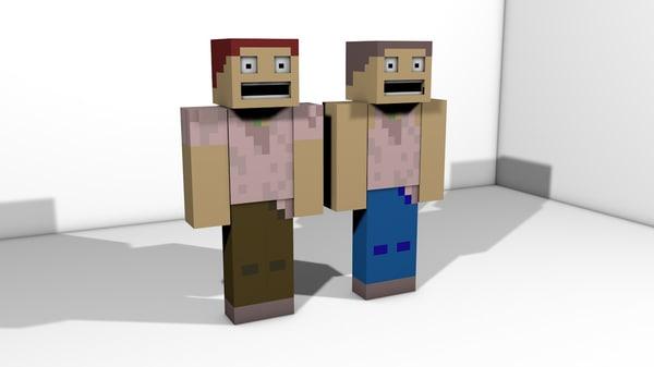 3d minecraft character model