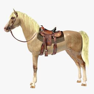 horse saddle obj