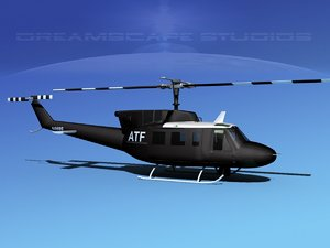 212 bell twin huey 3d dxf
