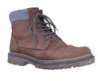 Lace up suede men's boots