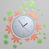 3d model wall clock 07