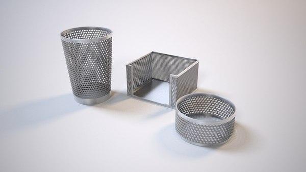 3d pencil cups box model
