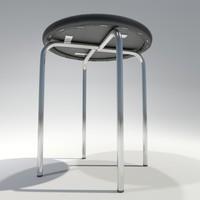 3d model stool office bar