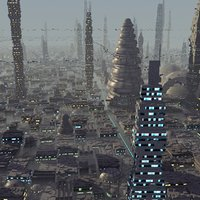 futuristic alien city 3ds