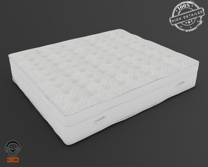 realistic mattress 3d obj