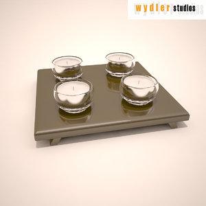 3d decorative candles model