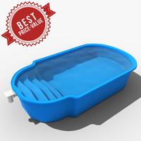 garden swimming pool 3d max