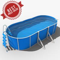 3d model garden swimming pool