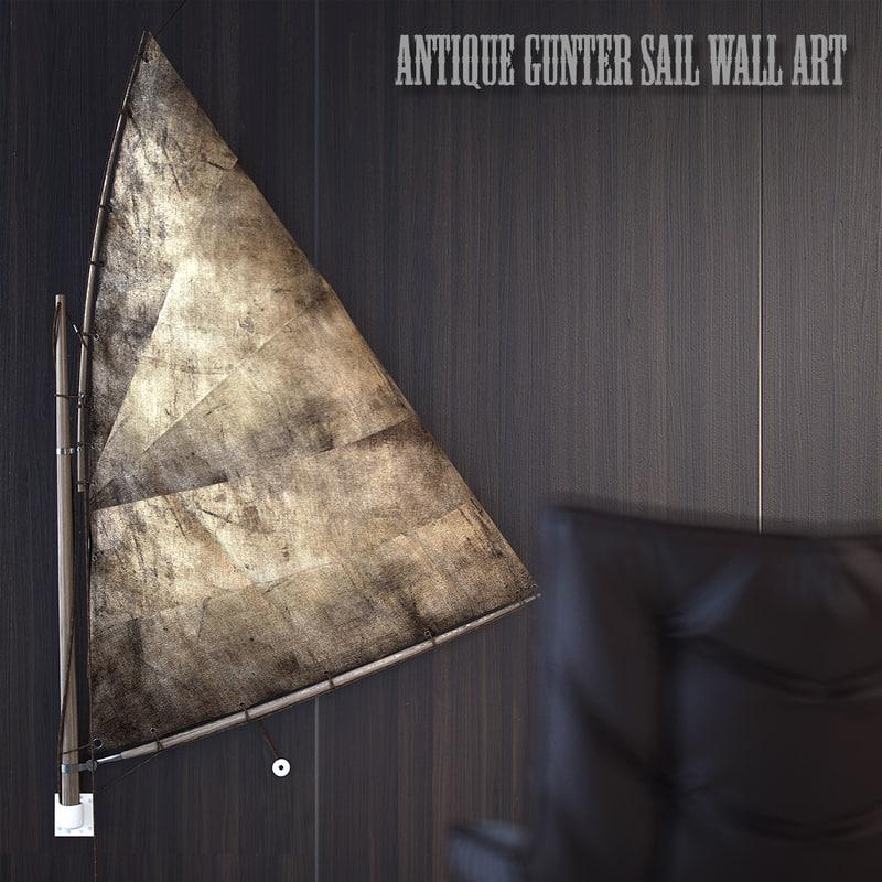 antique gunter sail 3d max