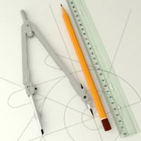 3ds max pencil ruler drawing