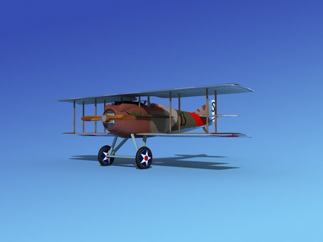 3d spad vii s fighter aircraft model