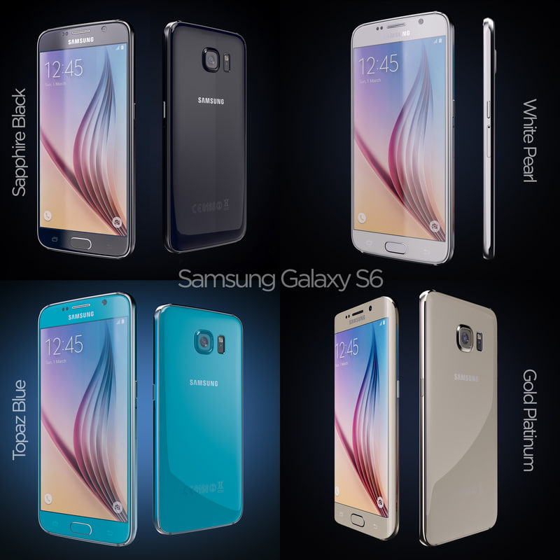 3d model flagship samsung galaxy s6