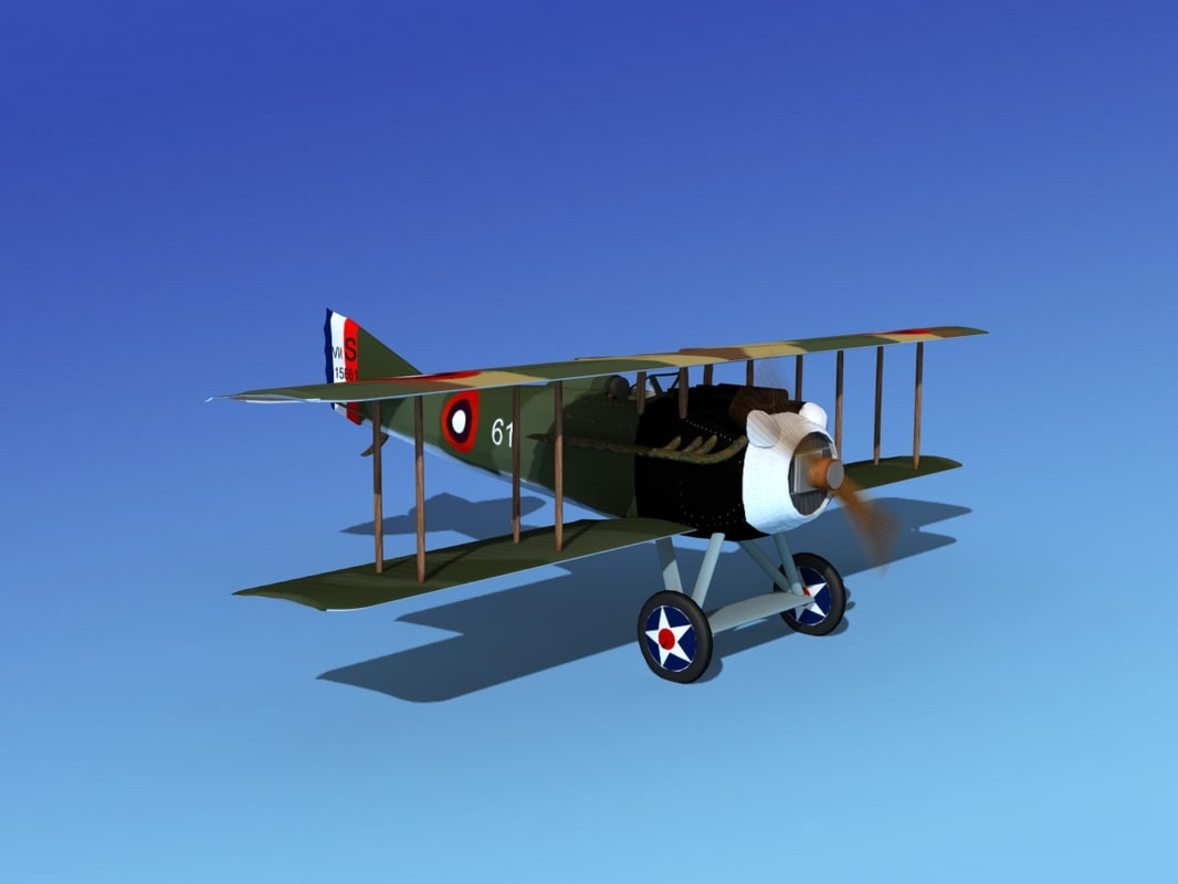 spad vii s fighter aircraft 3d model