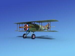 3d spad vii s fighter aircraft