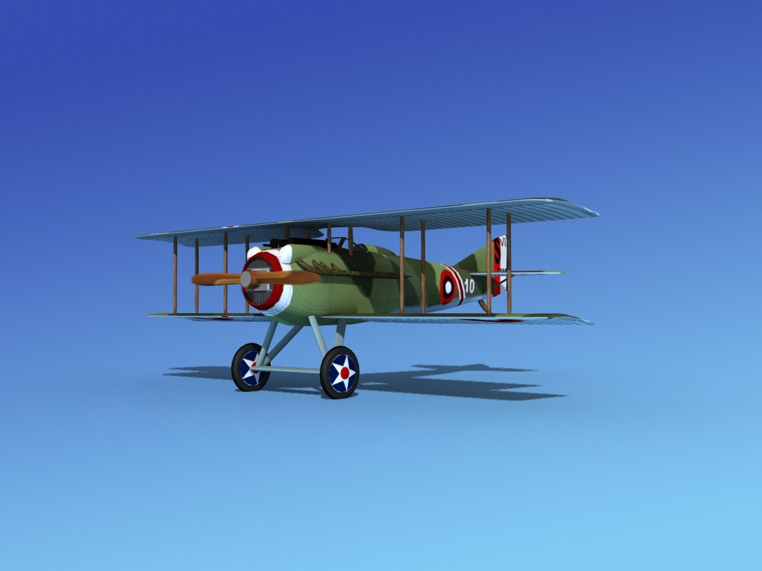 dxf spad vii s fighter aircraft