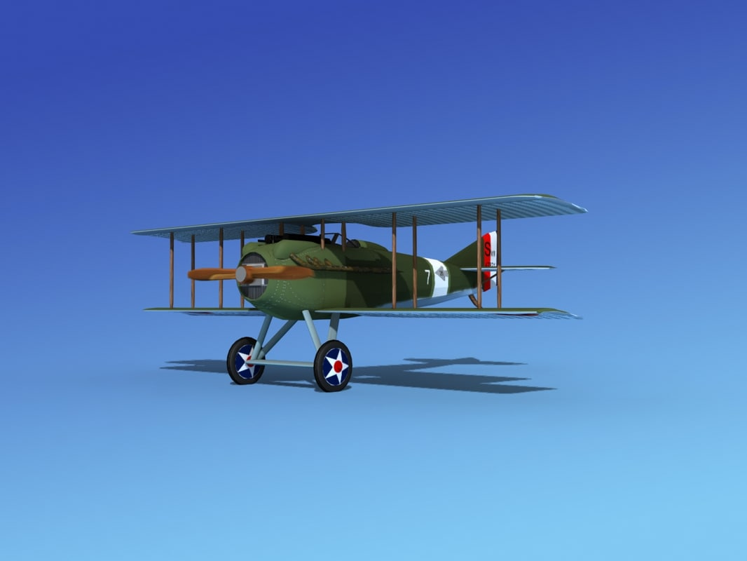 3d spad vii s fighter aircraft