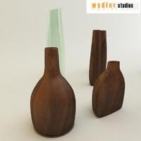 3d decorative vases model