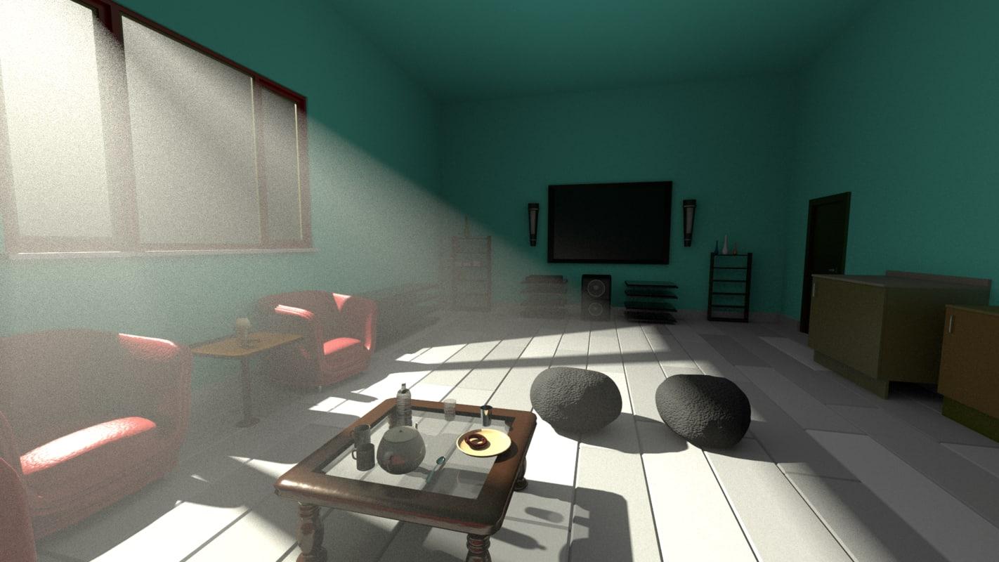 3d model sitting room basic