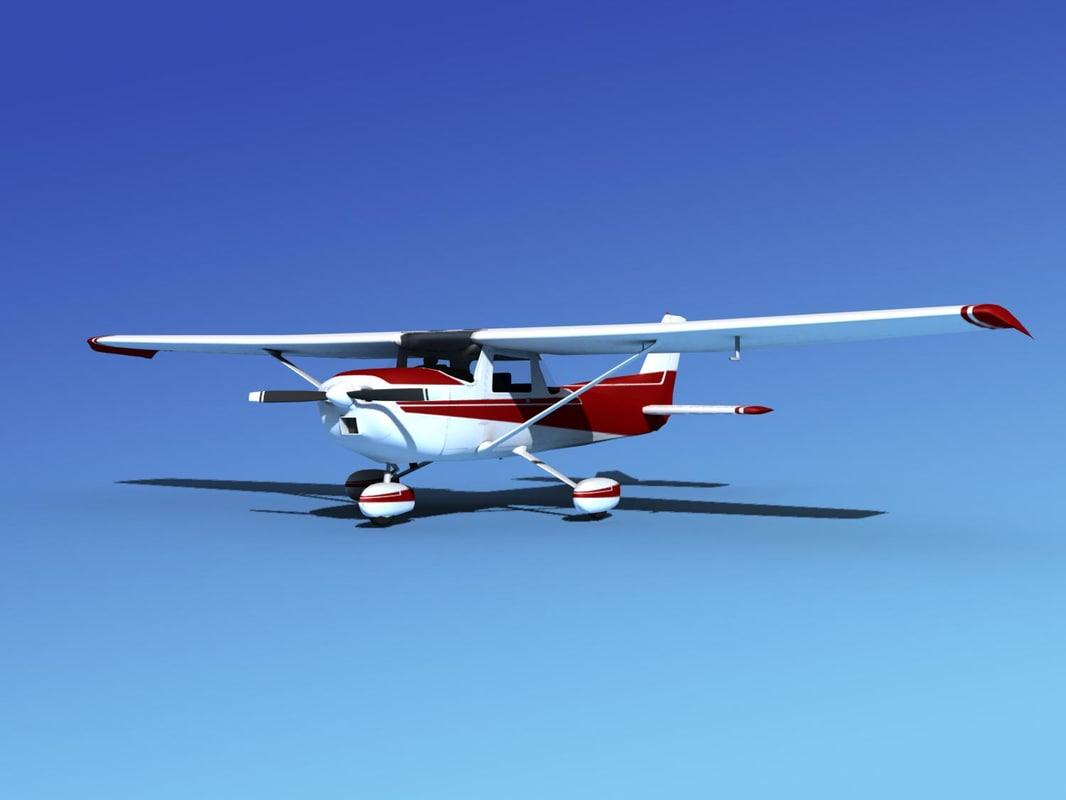 propeller cessna 152 3d obj