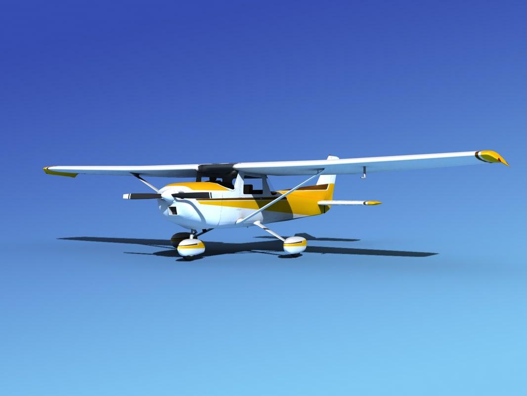 3d model propeller cessna 152