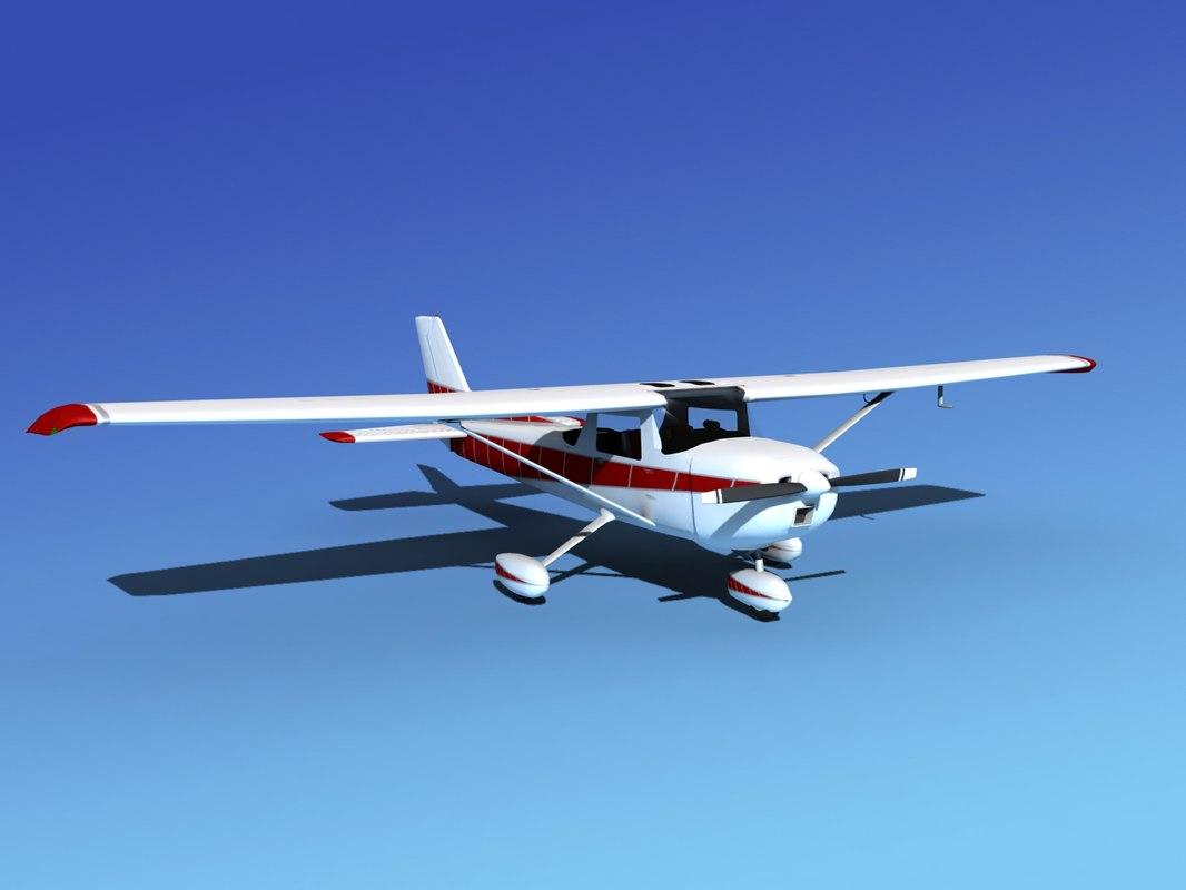 propeller cessna 152 3d model