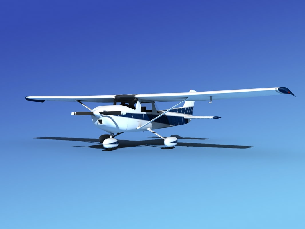 3d model of propeller cessna 152