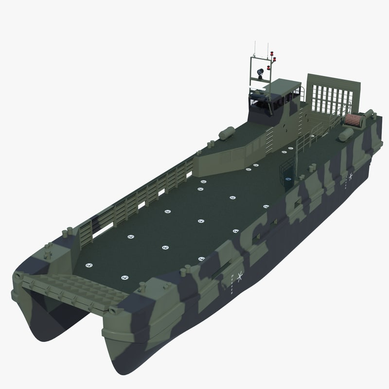 3d model of fast landing craft