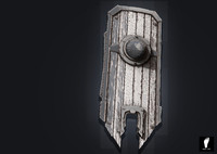 zbrush wooden shield 3d model