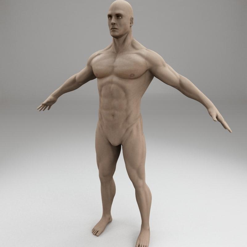 3d male human body