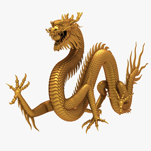 chinese dragon 3d 3ds