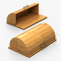 bamboo bread box 3d 3ds