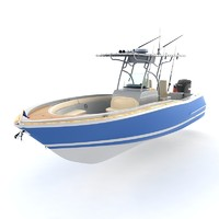 chris craft catalina 3d model