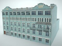 3d moscow building model