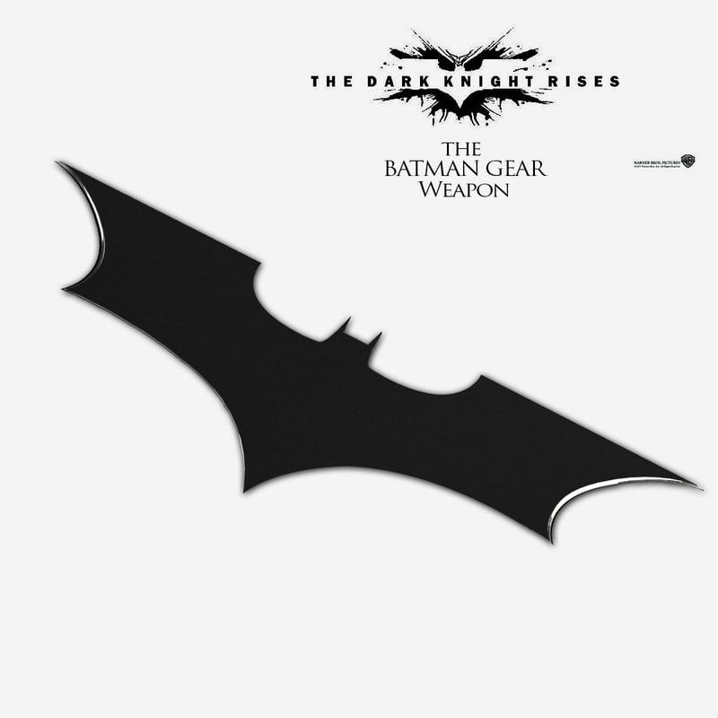 3d model bat gear weapon
