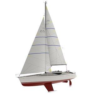 hotbird 34 sailboat 3d model