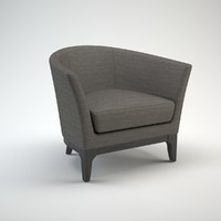 Tulip Upholstered Armchair